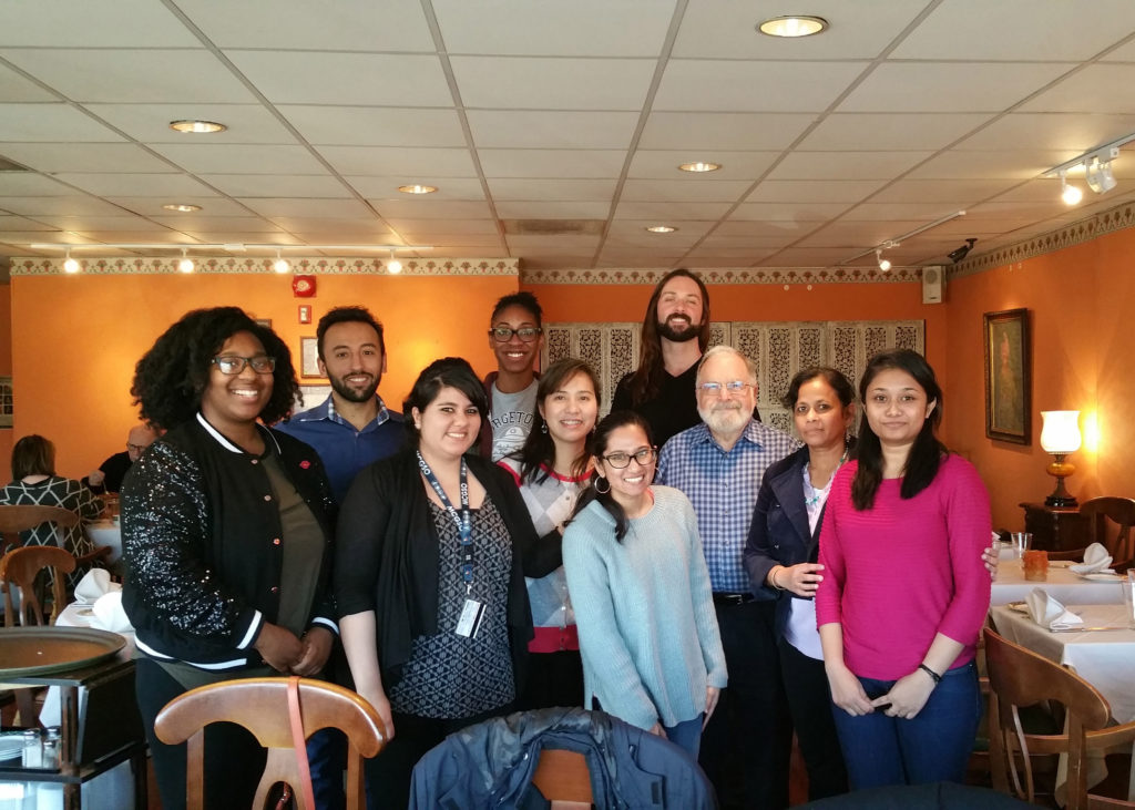 System Medicine's students and faculty go out for lunch.